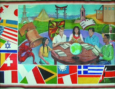 Multiculturalism brevity clarity for Education mural